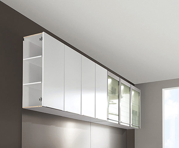 Demo Image: Hinged Wall Unit with Shelves Construction