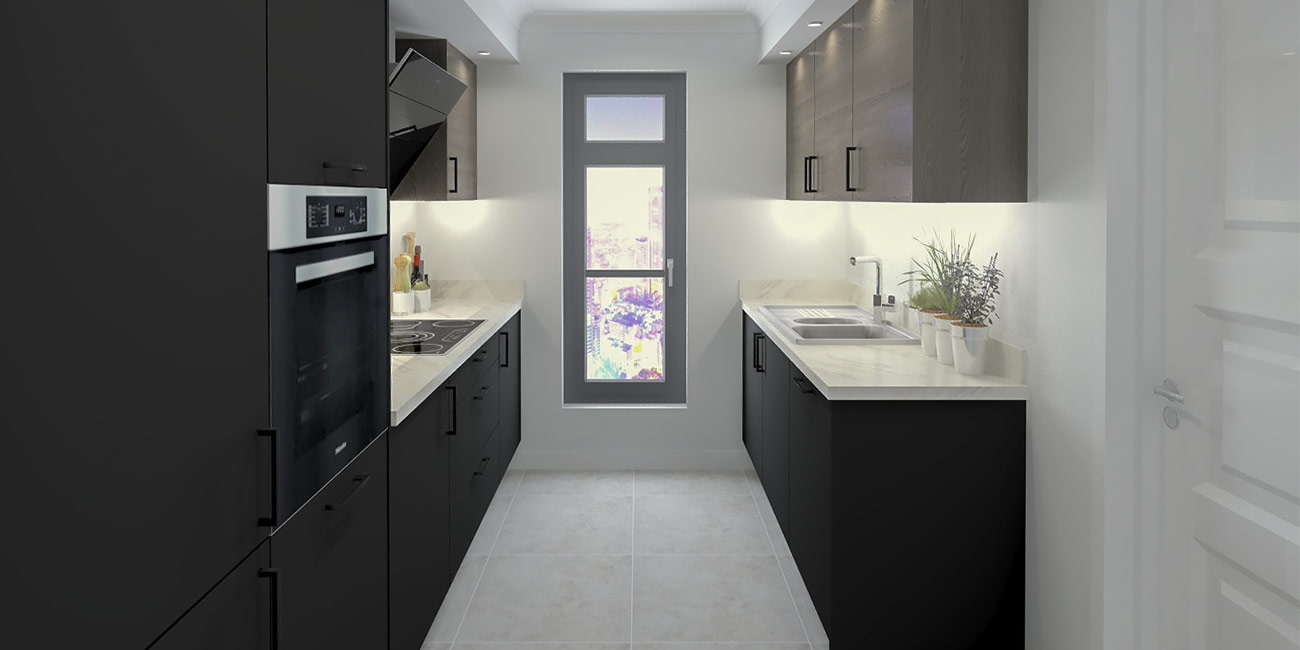 Galley Kitchen Cost Example