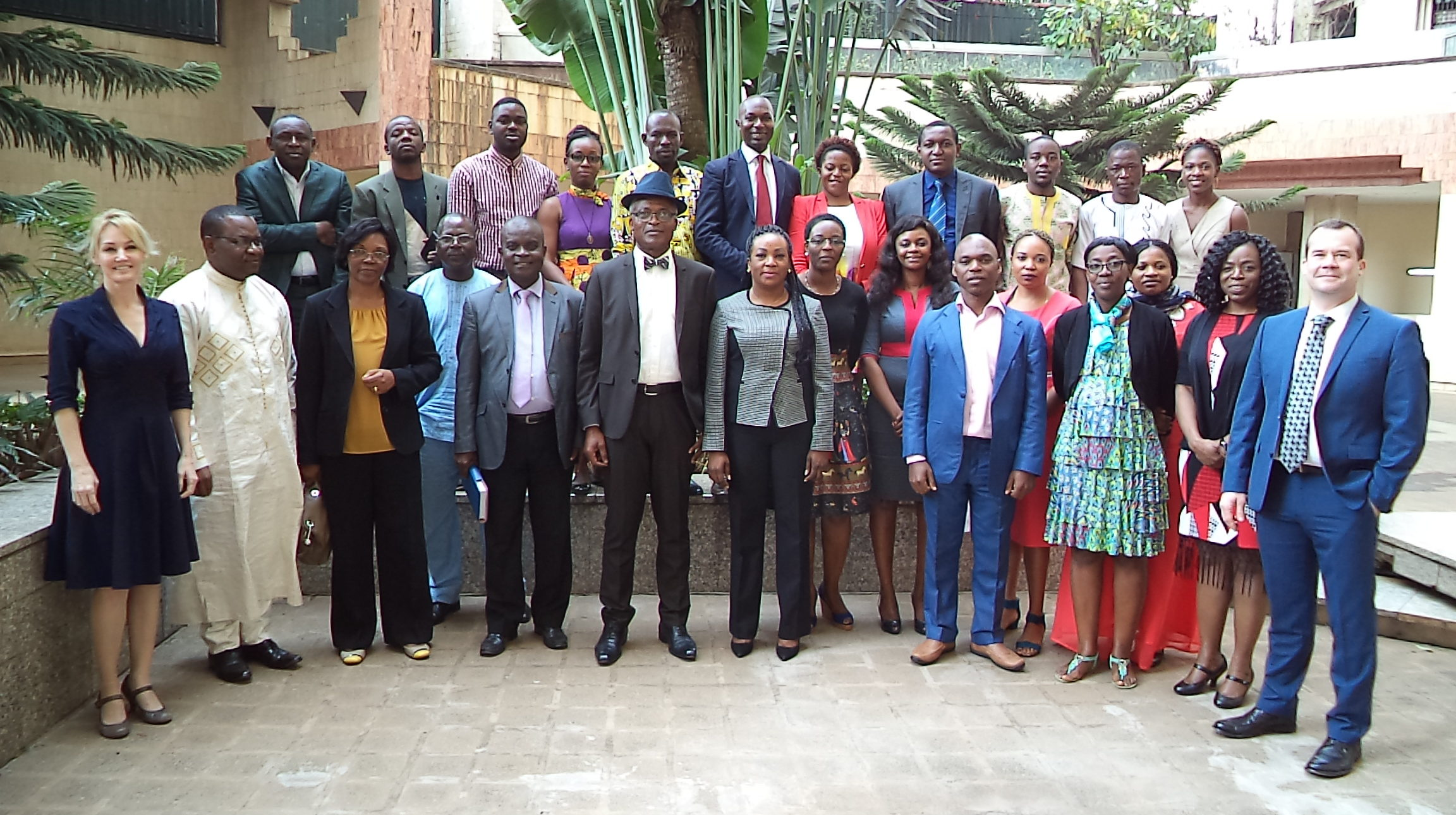 Cameroon health officials, CDC team members, Nathaniel of Veoci