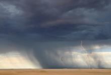 Image of tornado sweeping across a plain