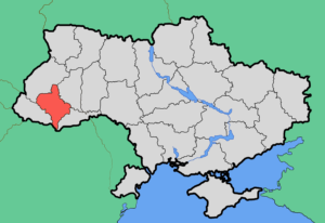 Ukraine Map with Area Affected by Outage