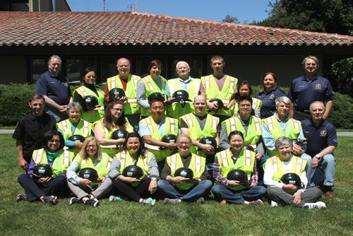 The graduating class of Palo Alto CERT.