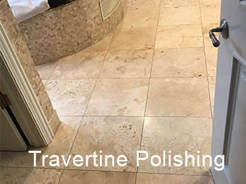 Burr Ridge IL 60527 Travertine Full Restoration to Satin Polish 4