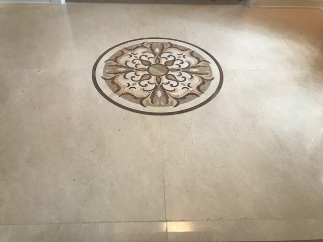 Naperville Full Restoration to High Polish Marble Floor Before 4
