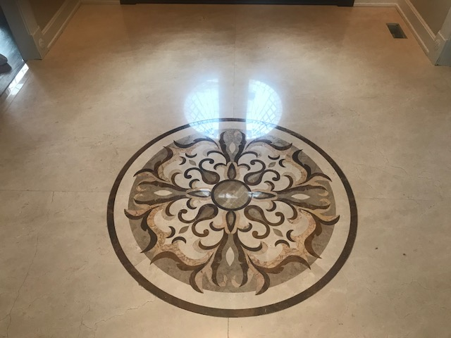 Naperville Full Restoration to High Polish Marble Floor Before 5