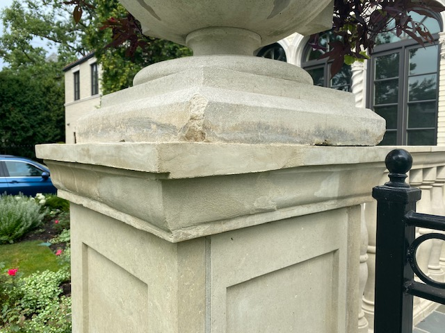cast stone after reparation
