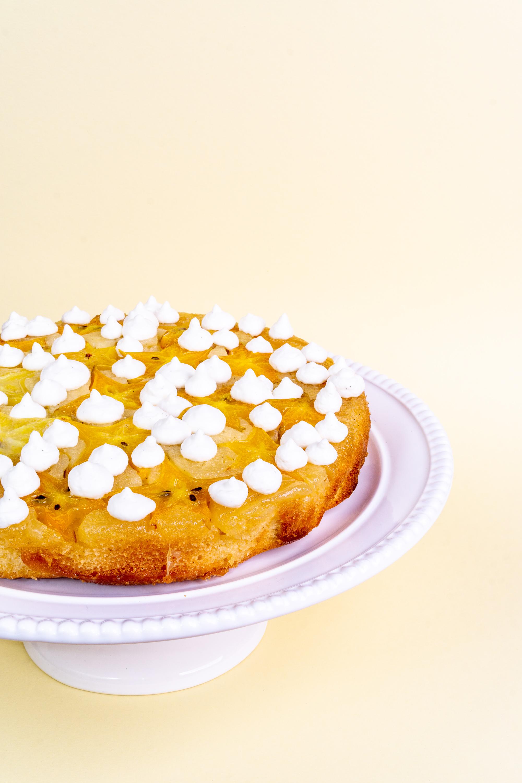 Umgedrehter Sternfrucht-Kuchen