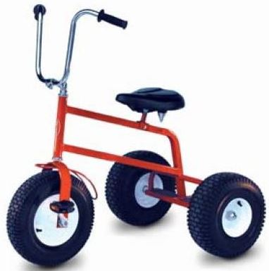 An adult size trike capable of holding up to 500 lbs. 3 Adult Trikes will be supplied for use with the Mega Rally Track.