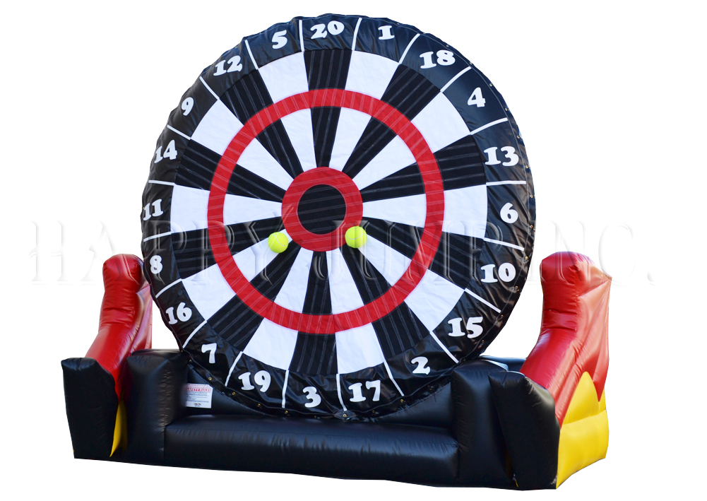 A new twist on the old dart game. Participants kick Velcro Soccer Balls onto the sticky dart board. Great fun for all ages.