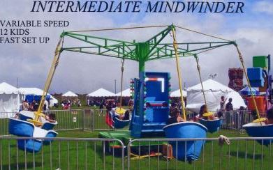 Up to 12 kids at a time can twist and turn on the Mindwinder.