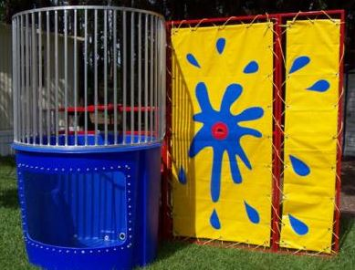 A great way to get back at the boss. Knock them into this 500-gallon dunk tank.