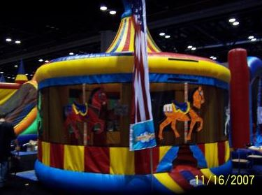 A Carousel theme version of the old favorite. (16' long x 16' wide x 18' tall)