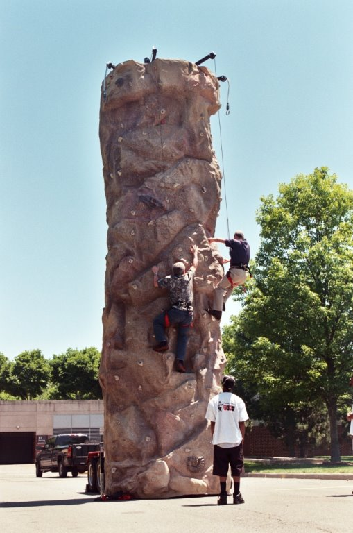 This 26' tall Rock Climbing Wall is sure to be a big hit with both adults and children. This Mobile Anniversary Edition climbing wall comes with the most realistic texture available! Our Extreme Texture™ allows you to climb without hand holds. All Anniversary walls come molded off of real rock!