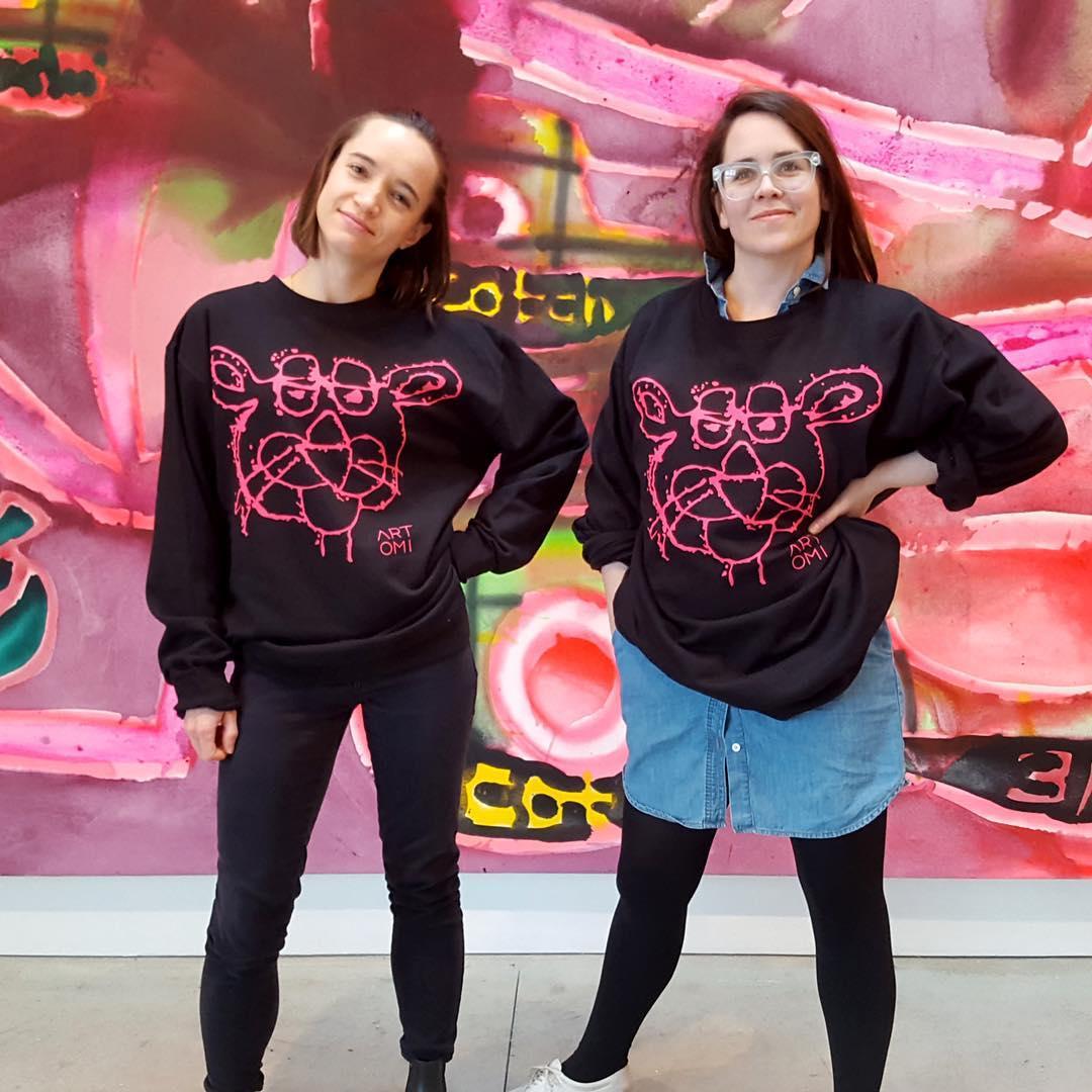 ladies wearing pink discharge prints