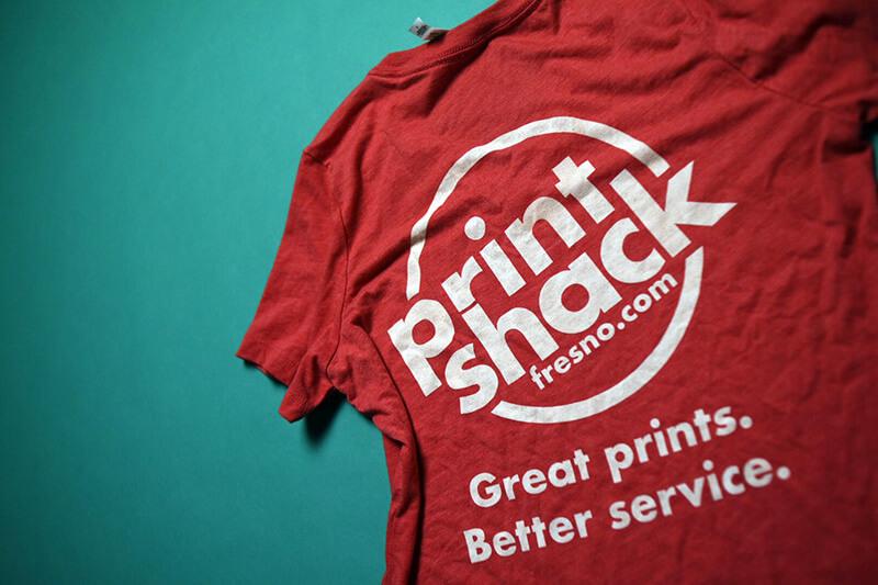 screen printed red shirt