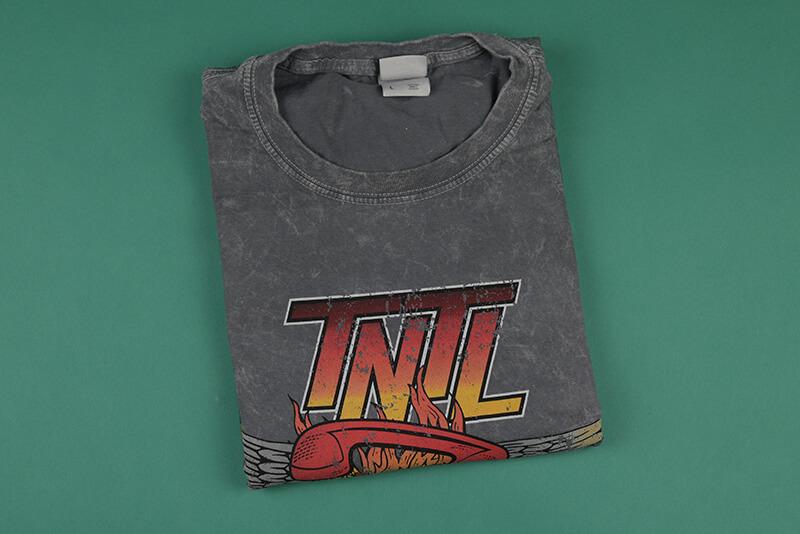 Acid washed shirts