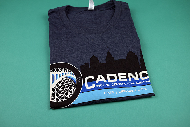 Shirts for a bicycle cafe