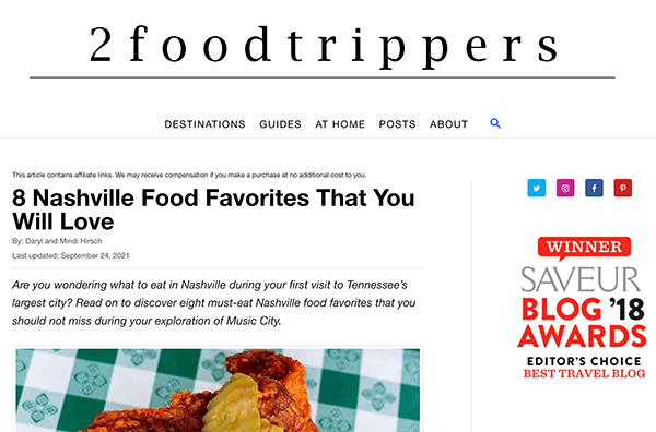Food bloggers as part of restaurant marketing