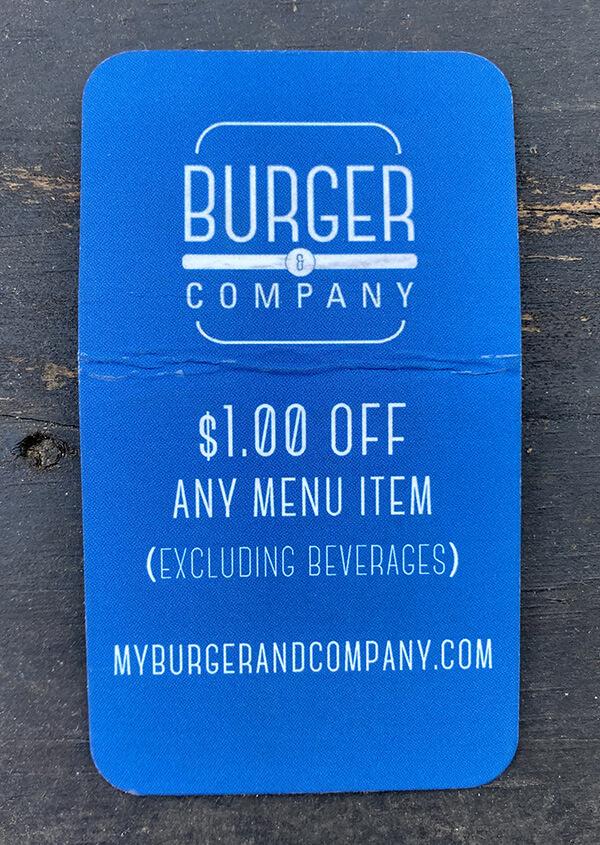 Burger restaurant's coupon