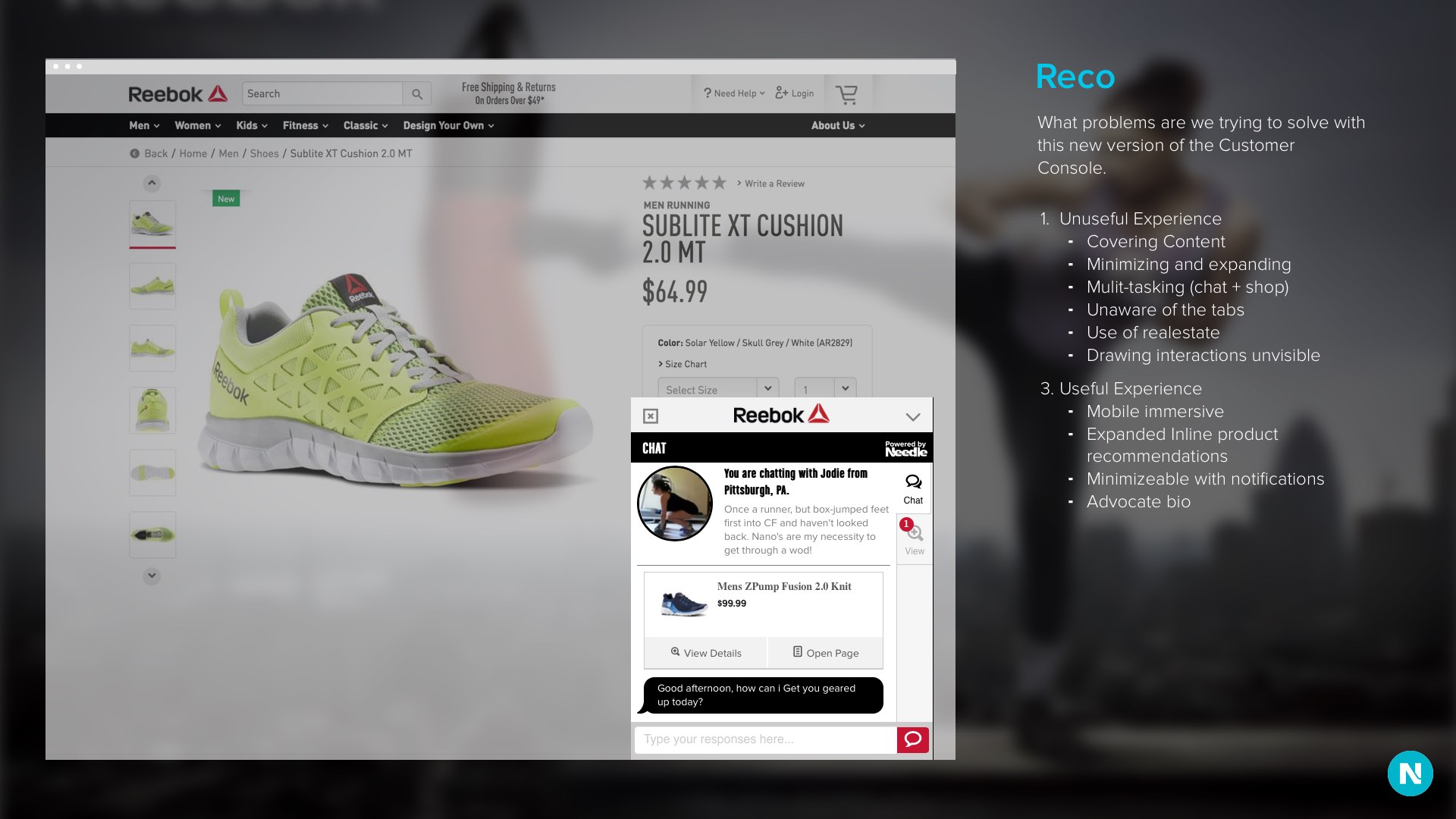 Needle: E-commerce Chat by Ben Peck