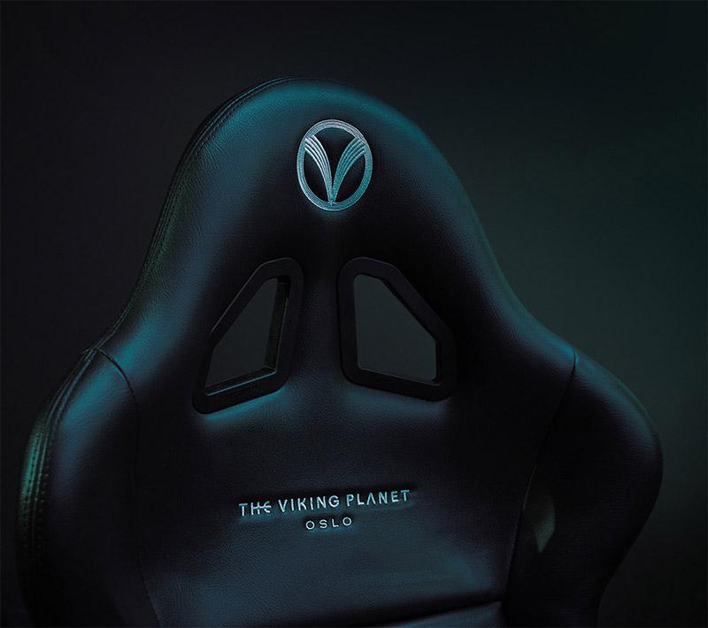 Bilde av The Viking Planet stol til VR-attraksjonen.