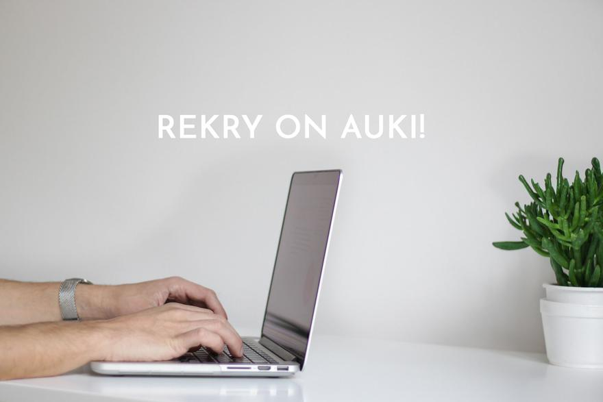 Rekry on auki