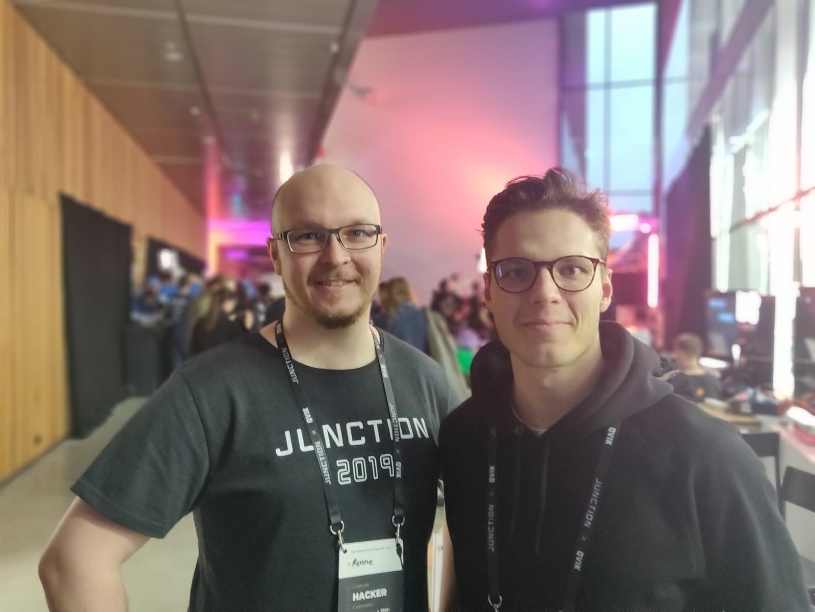 Renne Hirsimäki ja Paavo Väänänen ovat molemmat dumppareita eli tietojärjestelmätieteilijöitä