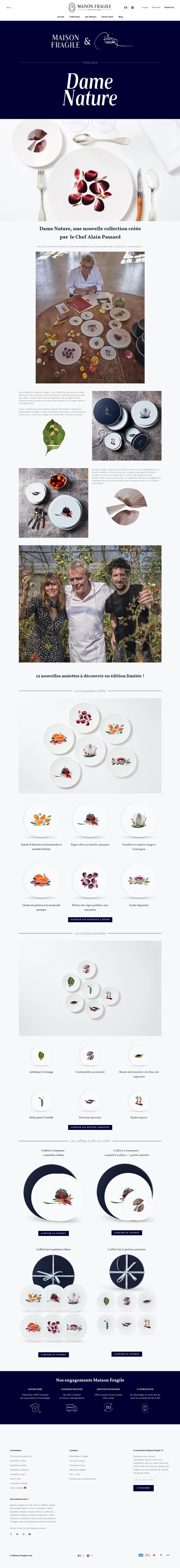 Product page screen