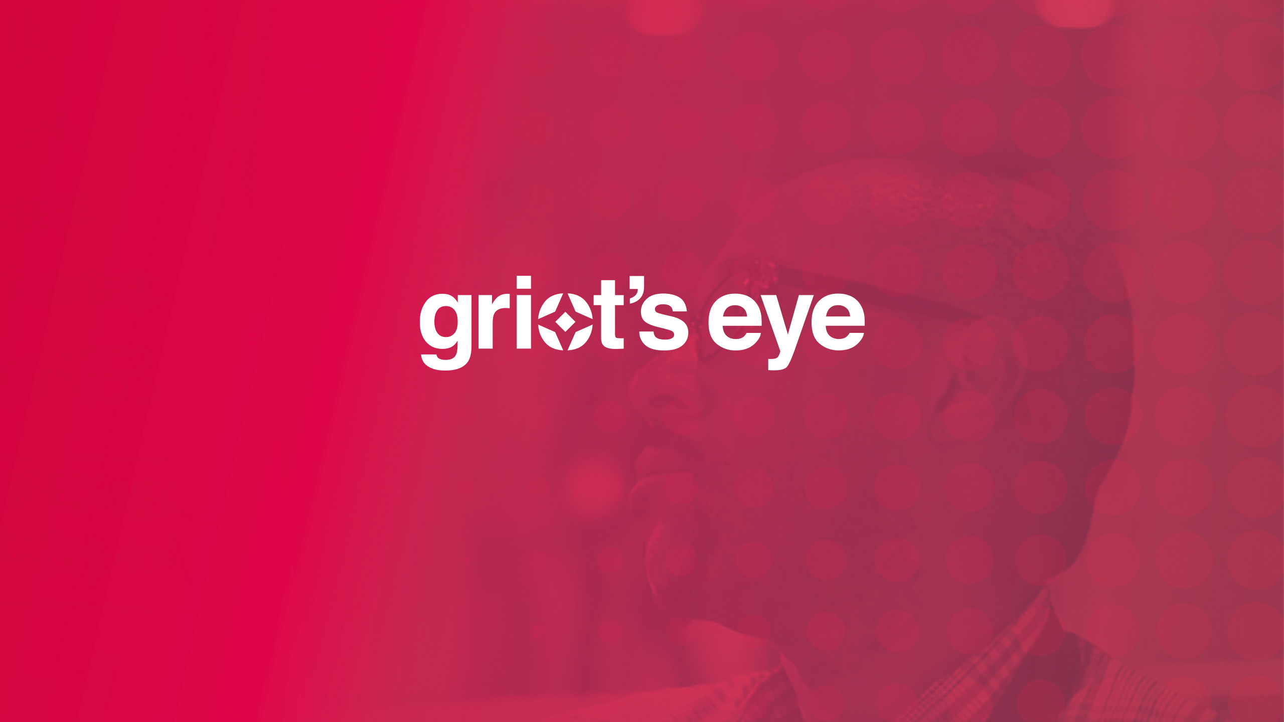 Griot's Eye Main Logo Banner
