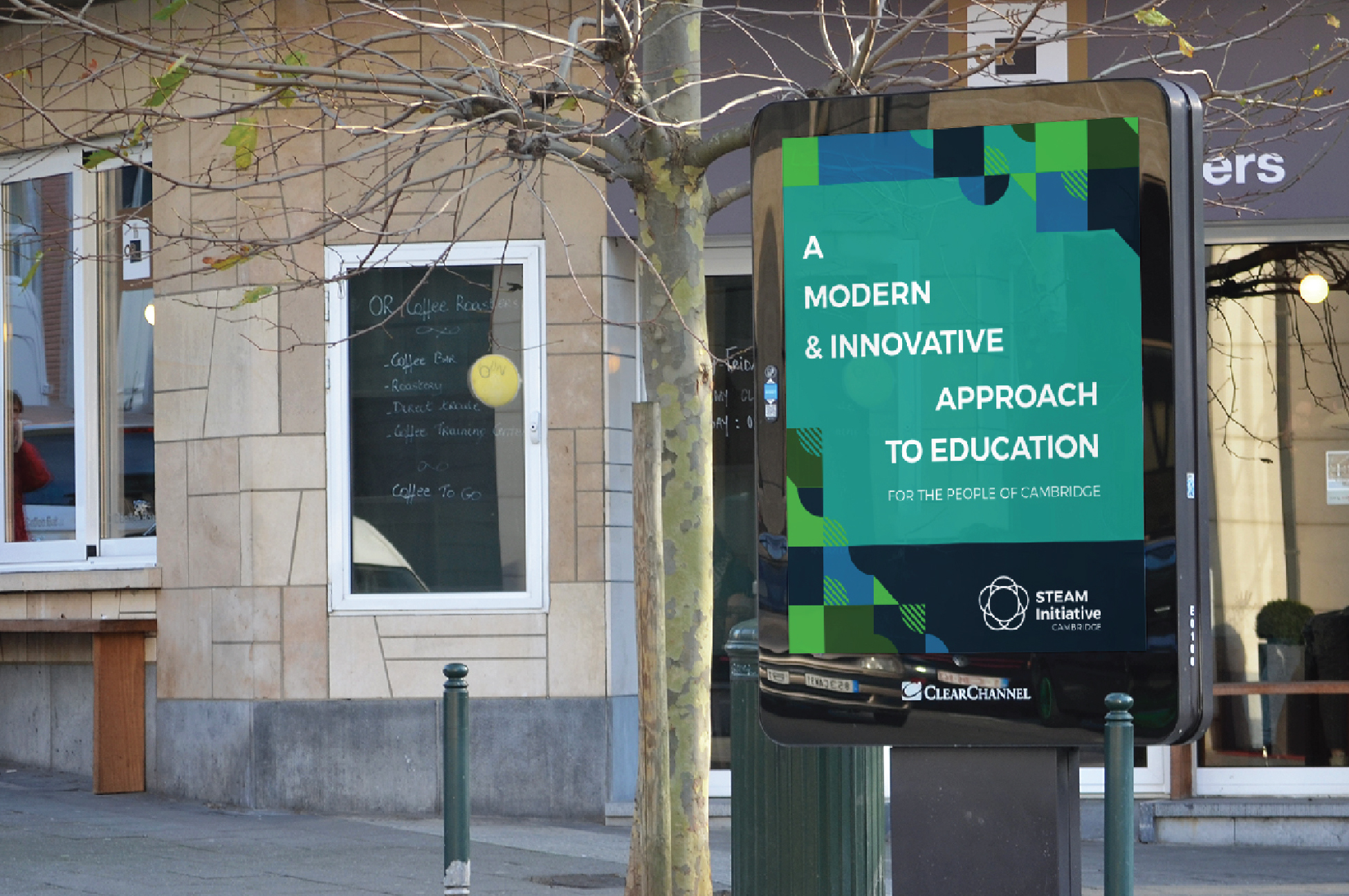 Cambridge STEAM Initiative Poster in City