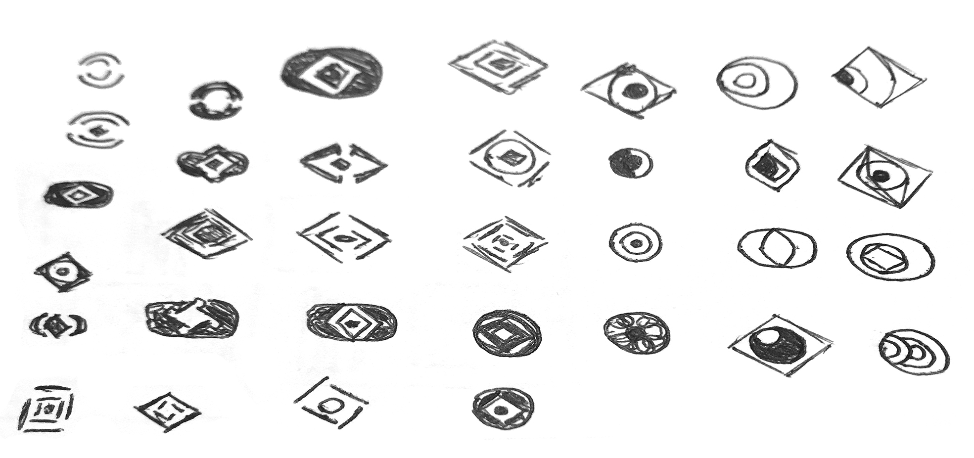 Sketching Icons Process Work