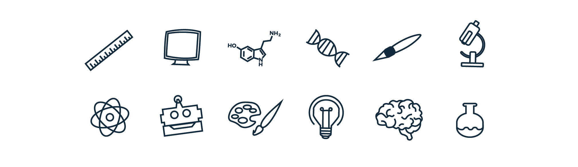 Science Illustrated Web Icons & Symbols