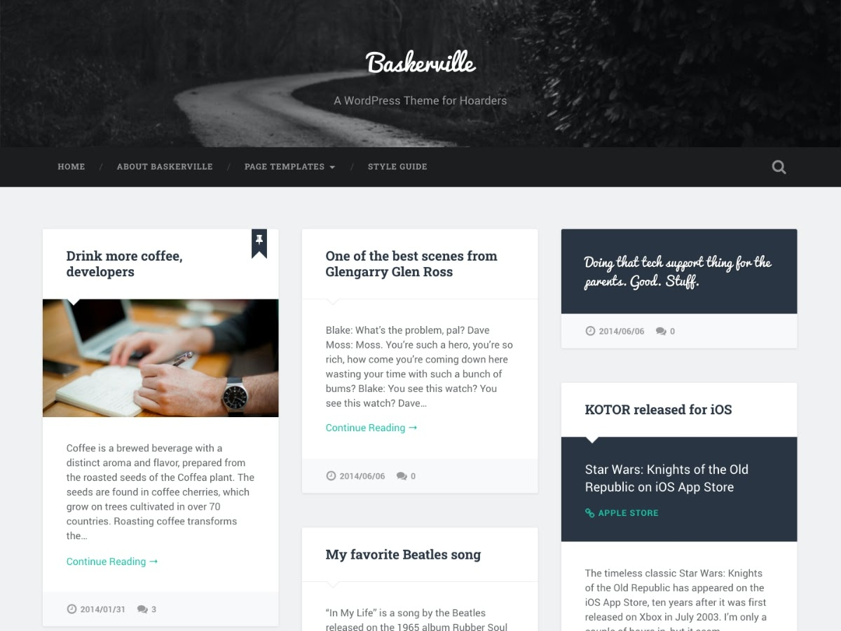 Baskerville - WordPress theme | WordPress.org
