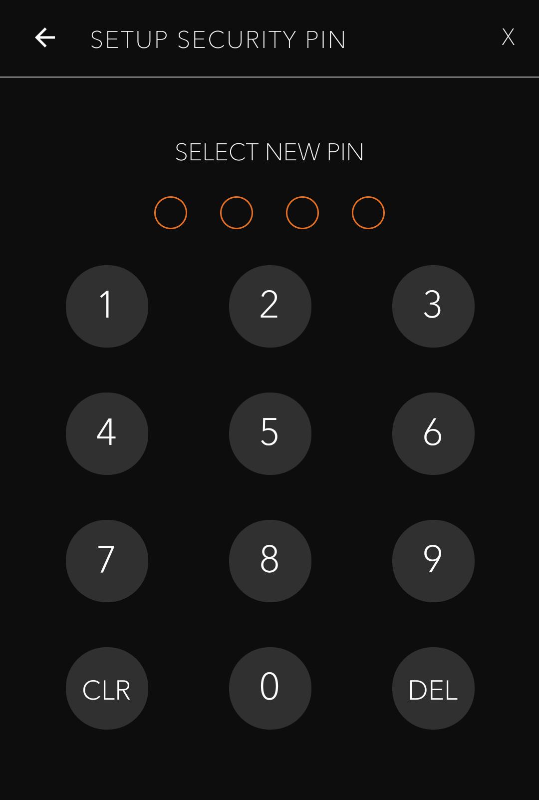 Configurando seu PIN de segurança