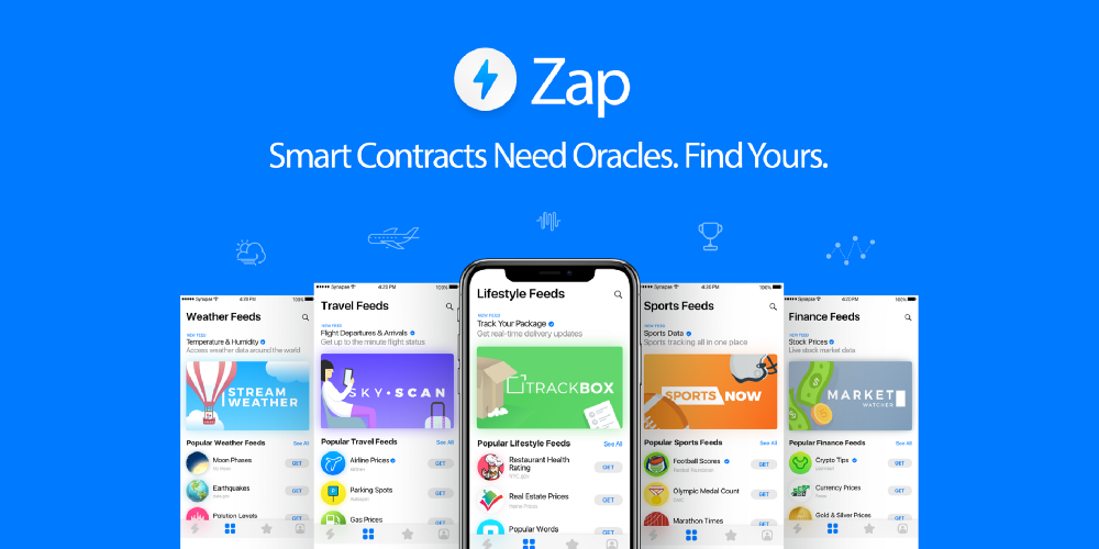 Zap, smart contracts need oracles. Find yours.
