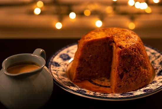 Steamed Carrot & Ginger Pudding