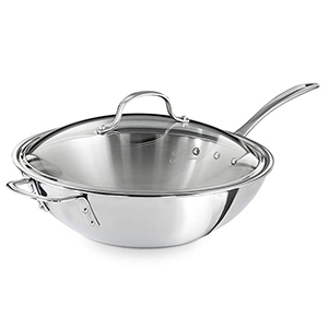 Triply Stainless Steel 12-Inch Wok