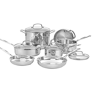 Stainless steel set of pots