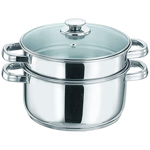 Stainless steel 2 layer steamer