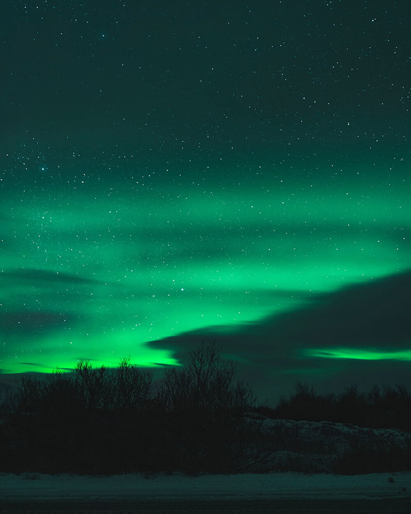 Northern lights in Iceland, 2019 - Instagram @estcethomas