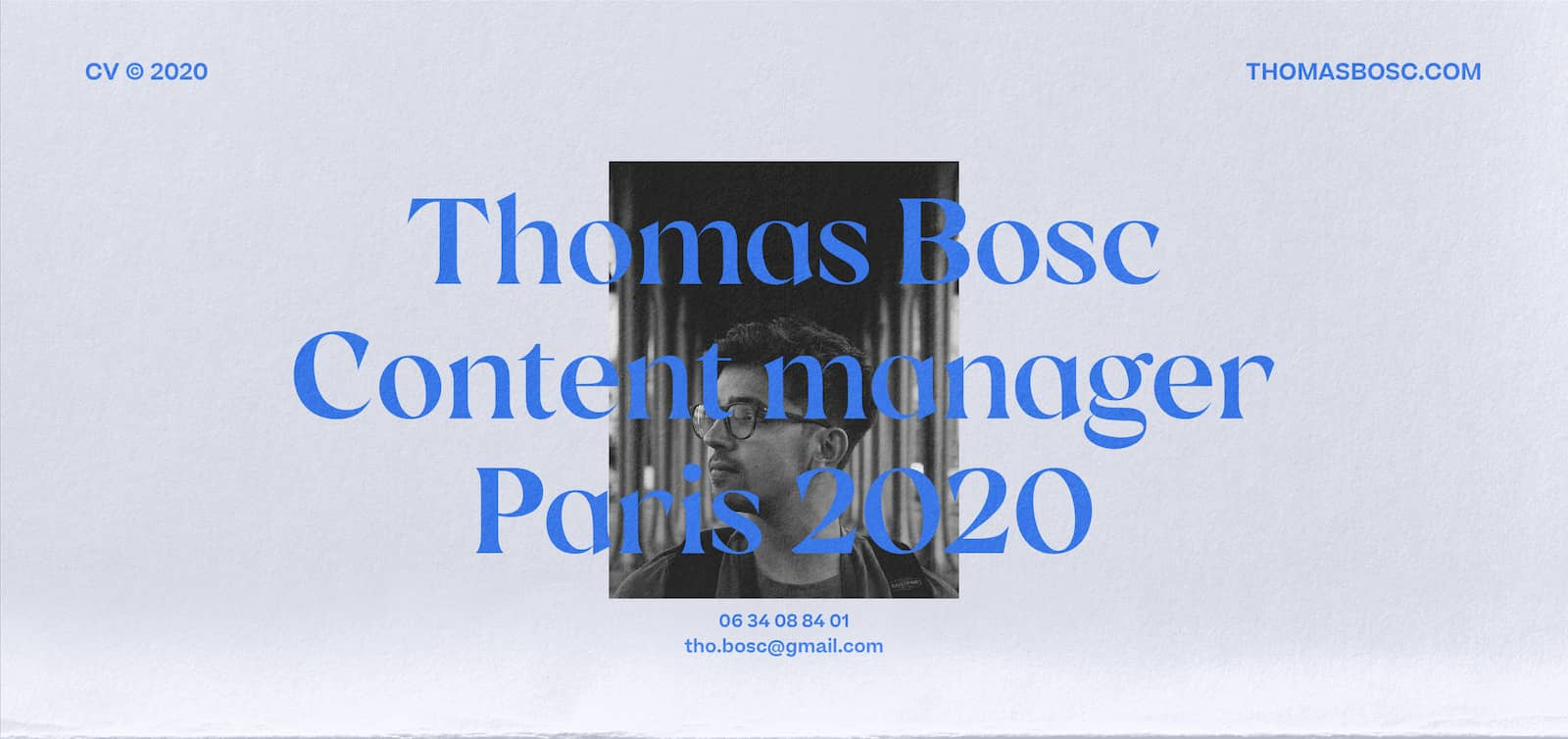 CV Thomas Bosc - Content Manager