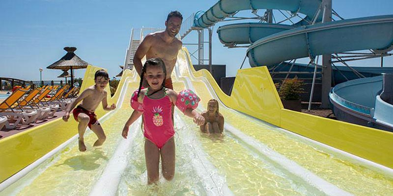 Siblu Family Holidays on water slide