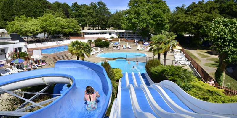 Eurocamp outdoor water slides