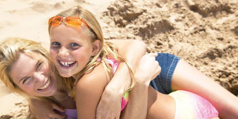 Pontins Holidays family on beach
