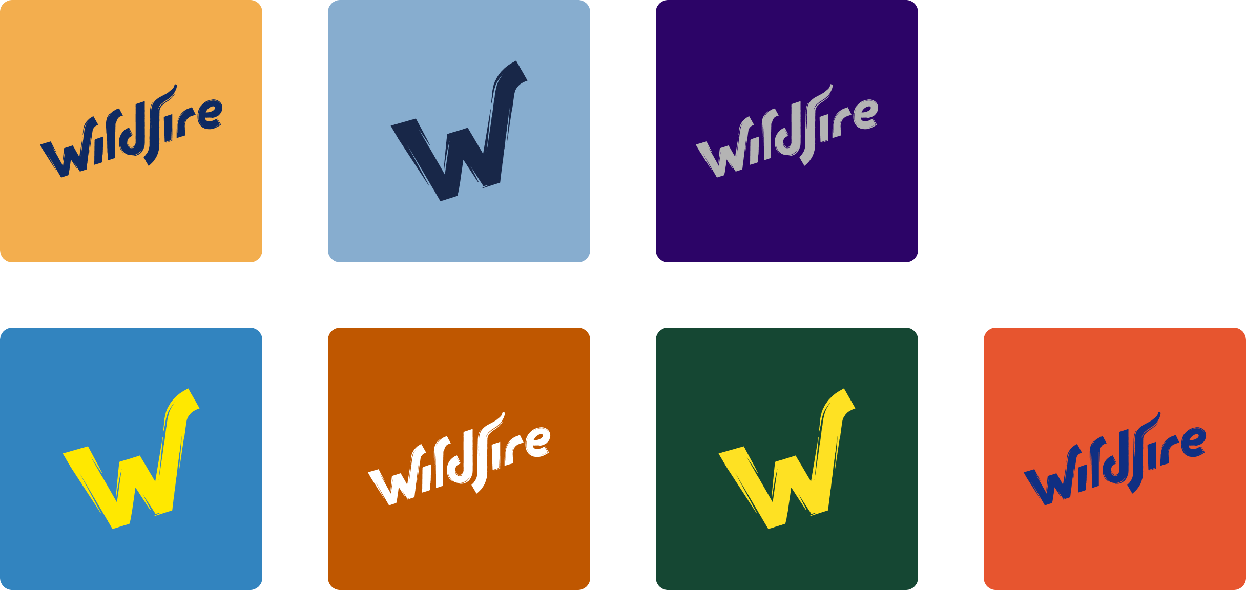 Wildfire Logos in campus colors
