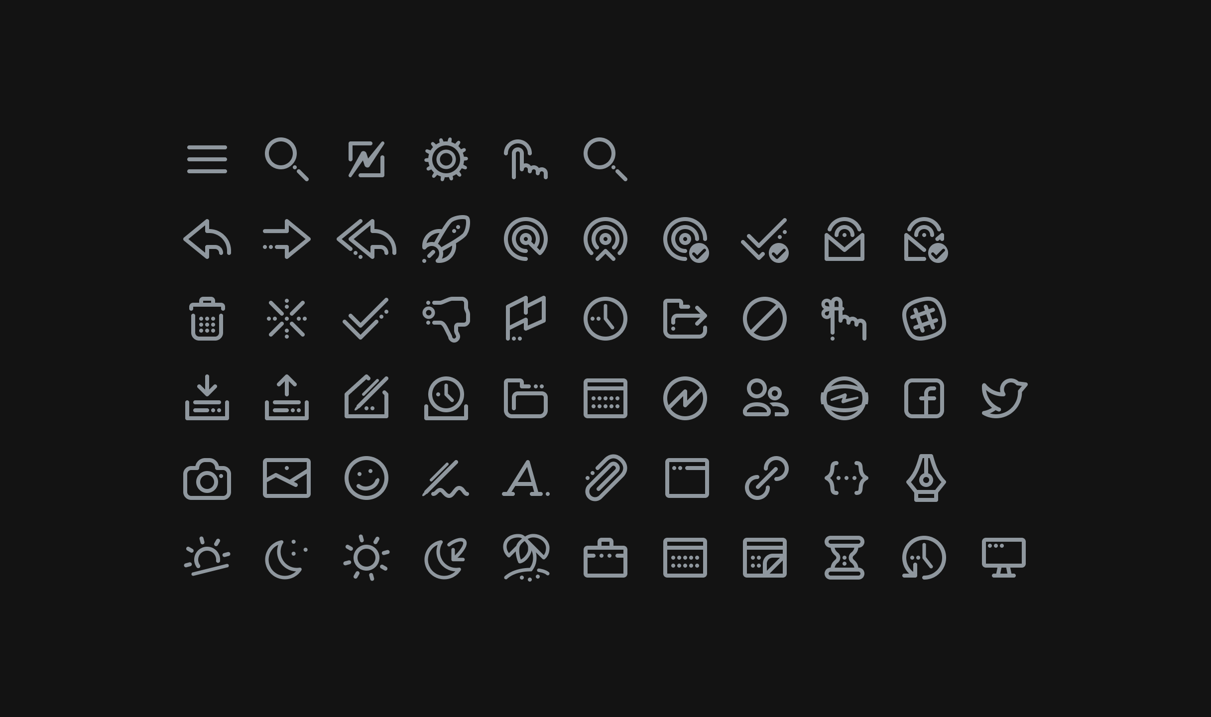 Lovely Astro interface icongraphy created by JW