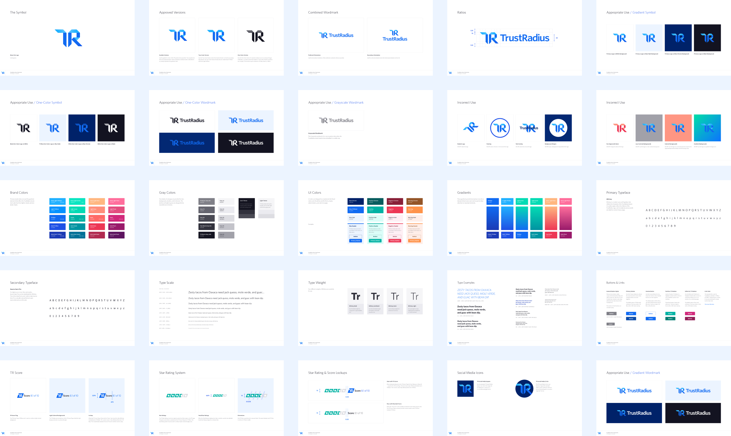 Thumbnails from the TrustRadius Brand Guide