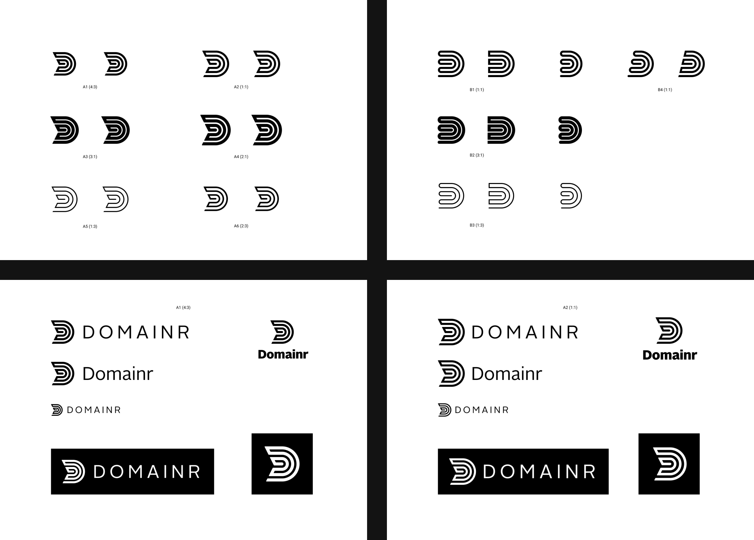 Explorations of Domainr logo variants