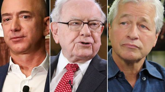 Jeff Bezos, Warren Buffet, and Jamie Dimon