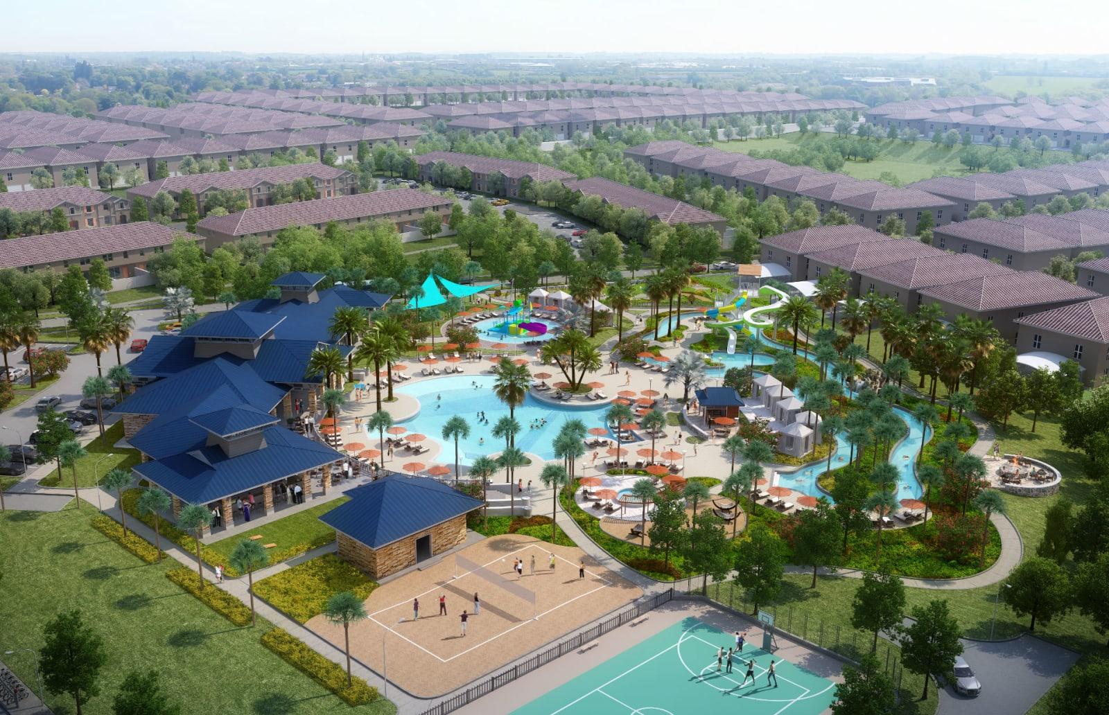 Imagem ilustrativa da área de lazer do Windsor Island Resort em Orlando